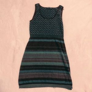 Peruvian connection blue tribal dress